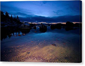 Sunset Sand Ripples Canvas Print by Sean Sarsfield