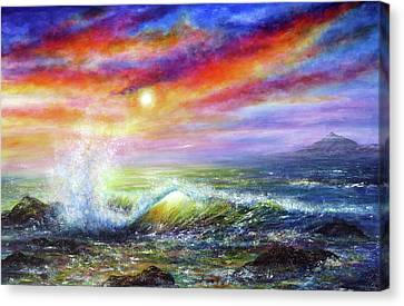 Sunset Sea Canvas Print by Ann Marie Bone