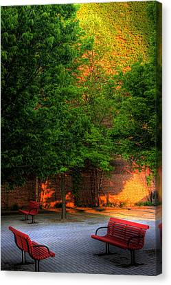 Sunset Seats Canvas Print