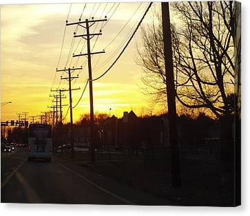 Canvas Print featuring the photograph Sunset by Shirin Shahram Badie