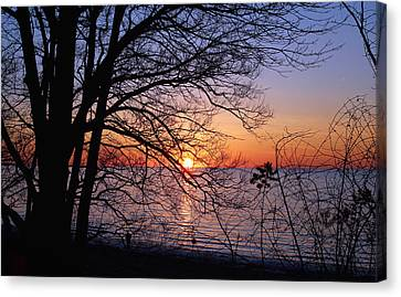 Buffalo New York Canvas Print - Sunset Silhouette 2 by Peter Chilelli