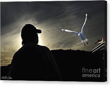 Sunset Sillouette. Original Exclusive Stock  Photo Art. Canvas Print by Geoff Childs