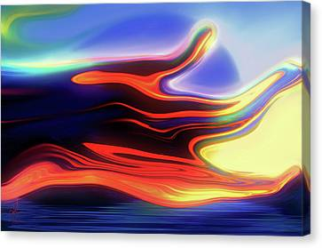 Canvas Print featuring the digital art Sunset Sky by Pennie  McCracken