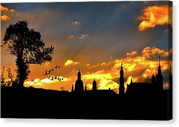 Hdr Landscape Canvas Print - Sunset Solitude by Cocoparisienne
