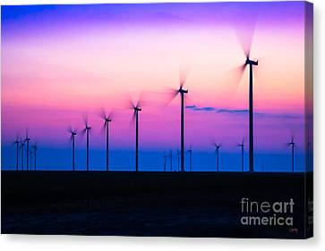 Sunset Spinning Canvas Print
