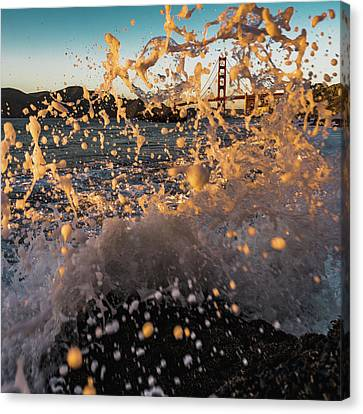 Sunset Splash Canvas Print