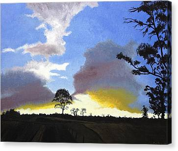Sunset Spleandour Canvas Print