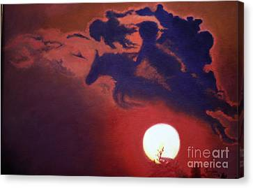 Sunset Steeplechase Canvas Print by Cindy Lee Longhini