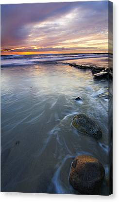 Sunset Storm Canvas Print by Mike  Dawson