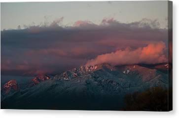 Sunset Storm On The Sangre De Cristos Canvas Print by Jason Coward