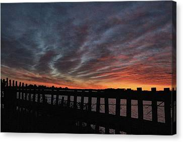 Sunset Streaks Canvas Print by Rosanne Jordan