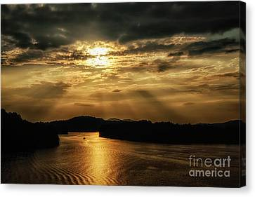 Nicholas County Canvas Print - Sunset Summersville Lake by Thomas R Fletcher