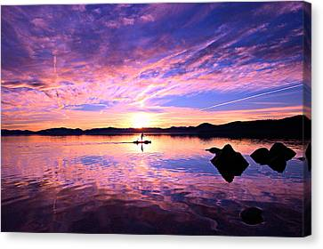 Sunset Supper Canvas Print