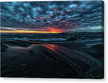Sunset Surf Canvas Print by Doug Gibbons
