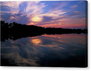 Canvas Print featuring the photograph Sunset Swirl by Steve Stuller