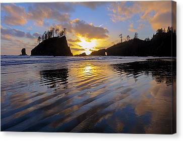 Canvas Print featuring the photograph Sunset Symphony by Mike Lang