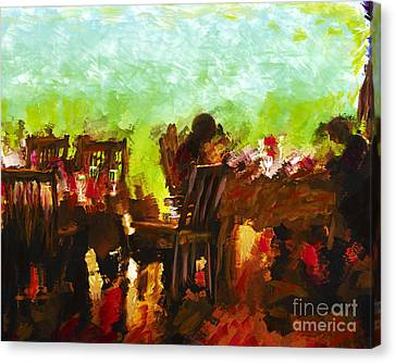Sunset Terrace Intimacy Canvas Print