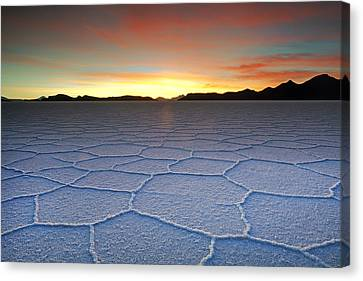 Lake Uyuni Sunset Texture Canvas Print