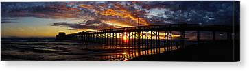 Canvas Print featuring the photograph Sunset  by Thanh Thuy Nguyen