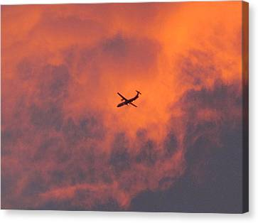 Sunset This Morning  Canvas Print