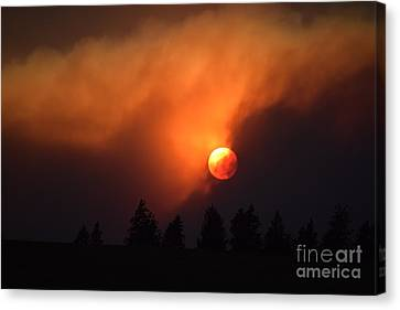 Sunset Through Smoke Canvas Print
