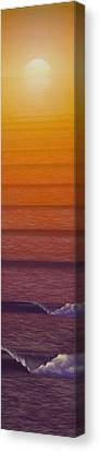 Tim Canvas Print - Sunset by Tim Foley