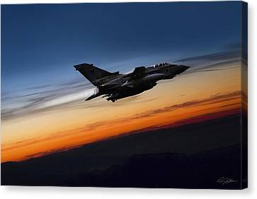 Sunset Tornado Canvas Print by Peter Chilelli