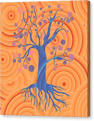 Sunset Tree Canvas Print by Frank Tschakert