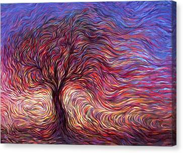 Sunset Tree Canvas Print by Hans Droog
