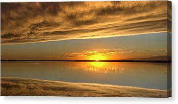Sunset Under The Clouds Canvas Print