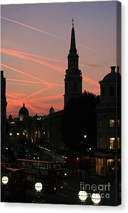 Sunset View From Charing Cross  Canvas Print by Paula Guttilla