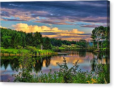 Canvas Print featuring the photograph Sunset View by Gary Smith