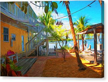 Sunset Villas Patio Canvas Print