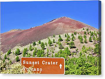 Sunset Crater Volcano Canvas Print