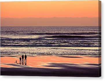 Sunset Walk Canvas Print by Todd Klassy