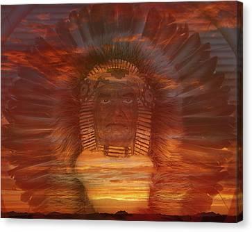 Sunset Warrior Canvas Print