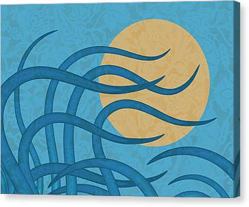 Sunset Waves Canvas Print by Frank Tschakert