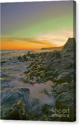 Sunset Waves Canvas Print by Todd Breitling