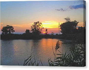 Canvas Print featuring the photograph Sunset West Of Myer's Bagels by Felipe Adan Lerma