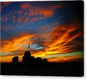 Sunset Ybor City Tampa Florida Canvas Print