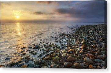 Fog Canvas Print - Sunset Zen Cape Cod by Bill Wakeley