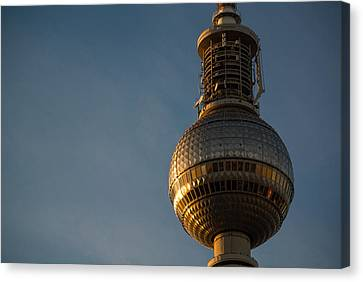 Sunseting On The Tower Canvas Print