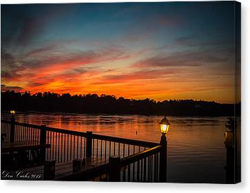 Sunsets In Lewiston Canvas Print by Carlos Ruiz