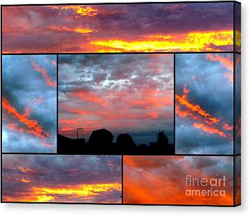 Sunsets Canvas Print by Joyce Woodhouse