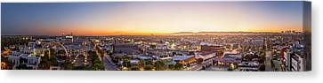 Glowing Sunset Culver City Canvas Print by Kelley King