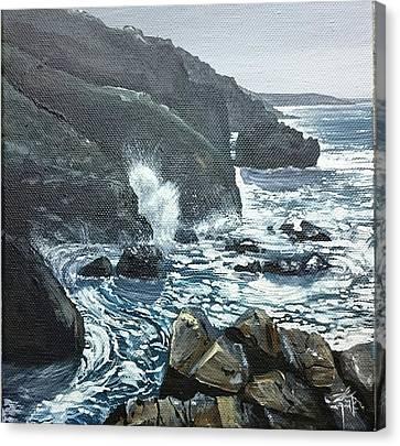 Canvas Print - Sunshine And Cliffs  by Keran Sunaski Gilmore