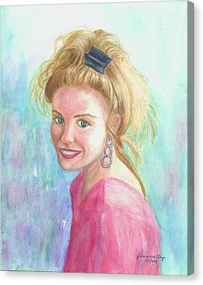 Canvas Print featuring the painting Sunshine Girl by Jeanne Kay Juhos