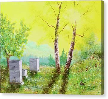 Sunshine Honeybee Wakeup Canvas Print by Ned Farrell