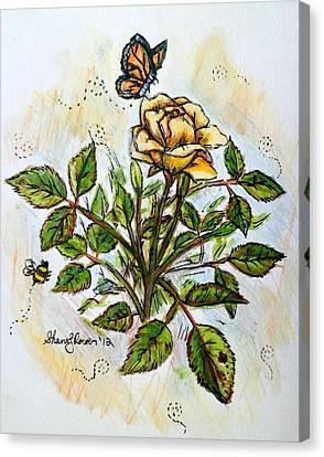 Sunshine In My Garden Canvas Print by Shana Rowe Jackson