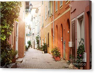 Sunshine In Villefranche-sur-mer Canvas Print